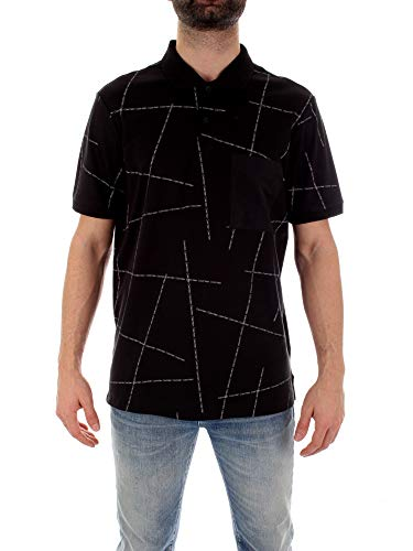 Calvin Klein Hombres una Camisa Polo con el Logo Roto de Ajuste...