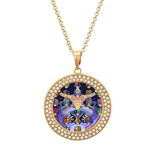 R-ey My-sterio Collar de diamantes multicolor - Collar con colgante liviano, joyería de moda para niñas y niños