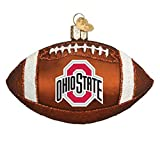 Old World Christmas Ohio State Buckeyes Glass Blown Ornaments for Christmas Tree Football
