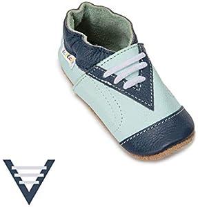 Zapatos para Bebés que no Caminan con Suela Antideslizante, Zapatos de Primeros Pasos para Niños y Niñas, Zapatos de Bebé, Zapatos de Cuero Suave, 6-24 Meses (20-21/12-18 Meses, Sneaker)