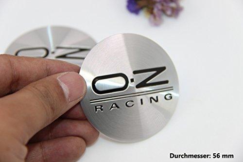 R288 OZ 2 stück Felgendeckel 3D Emblem Abziehbild Auto Aufkleber Nabendeckel Radkappen Nabenkappen 56 mm schwarz