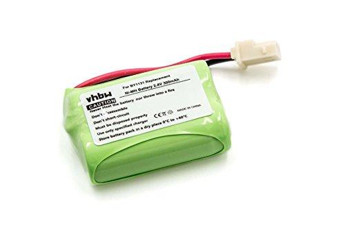 vhbw Batería recargable reemplaza Motorola BY1131 para monitor de bebé (300 mAh, 2,4 V, NiMH)