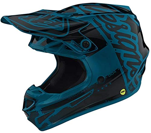 Troy Lee Designs 111008003 Casco Moto Se4 Polyacrylite Factory In Policarbonato Con Calotta Esterna In Eps