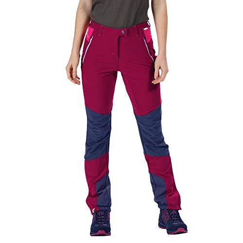Regatta Damen Womens Mountain Water Repellent Stretch Hiking Trousers Hose, Rote Beete/Herzogin, Size: 14