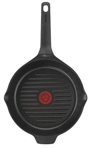 Tefal Aroma – 22 cm Non-Stick Cast-Aluminium Frying Pan / Paella Pan 26 cm Black