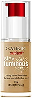 CoverGirl Outlast Stay Luminous Classic Tan 860 Natural Glow Foundation -- 2 per case.