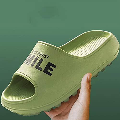 Zapatillas de verano para mujer Zapatillas De Ducha De Las Mujeres Zapatos De Jardín De Baño Silent Desodorante Dama Zapatillas 4 Cm Suela Espinosa Espuma Suave Zapatillas De (Size:40/41,Color:Green)