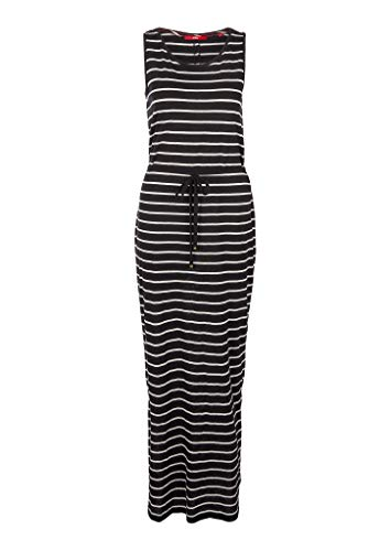 s.Oliver Damen Jerseykleid mit Streifen Black Stripe 36