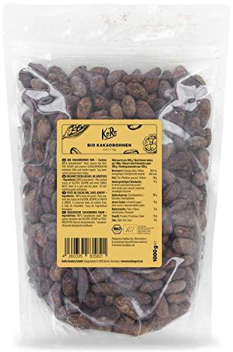 KoRo - Fèves de cacao bio 1 kg - Les meilleures fèves de cacao de la variété Criollo, non torréfiées et sans additifs, issues decul l'agriculture biologique contrôlée
