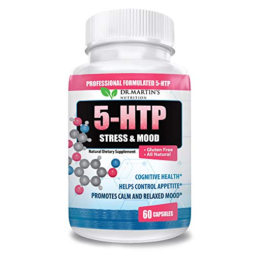 Super Strength 5-HTP 200 mg Supplement | Boosts Serotonin Production | Promotes Calm Relaxed Mood | Supports Sleep & Anxiety Support | Natural Dietary Supplement | 60 Capsules | 5 HTP for Women & Men