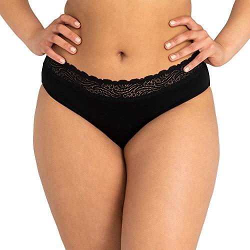 Modibodi Sensual Hi Waist Bikini Light-Moderate 16 Black