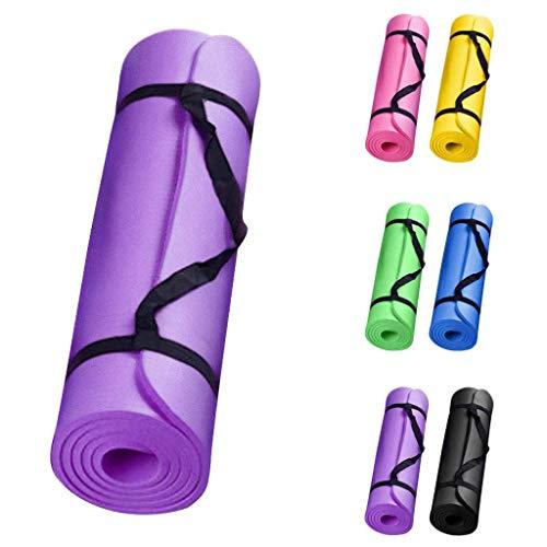 Yvelands Gymnastikmatte, Yogamatte in 6 Farben, Top-Material, 183 x 60 x 0.5cm, rutschfest Sportmatte& komfortable - Fitnessmatte/Sportmatte für Yoga Workout Sport Fitness Pilates-Extra Dicke