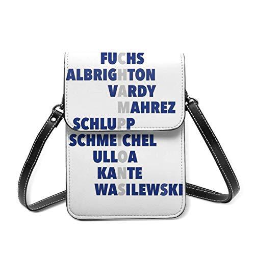 Small Shoulder Bag, Leicester City Premier League Champions Crossbody Bag CellPhone Wallet Purse Lightweight Crossbody Handbags for Women Girl