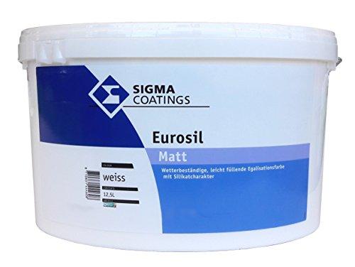SIGMA Eurosil matt, weiss 5L - siikonharzmodifizierte Fassadenfarbe