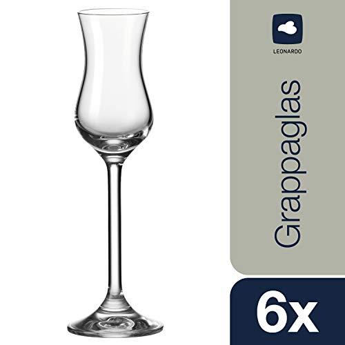 Leonardo Daily Grappa-Glas, Schnaps-Glas mit Stiel, spülmaschinenfeste Digestif-Gläser, 6er Set, 10 cl, 063319