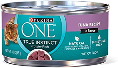 Purina ONE Natural, High Protein Wet Cat Food, True Instinct Tuna Recipe in Sauce - (24) 3 oz. Pull-Top Cans