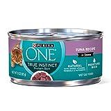 Purina ONE Natural, High Protein Wet Cat Food, True Instinct Tuna Recipe in Sauce - (24) 3 oz....
