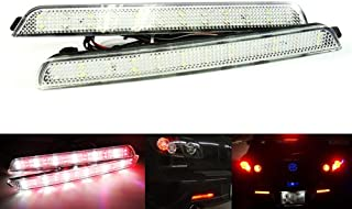 2x Clear Lens Rear Bumper Reflector LED Fog Tail Stop Brake Light Reverse Lamp For 2003-09 Mazda3 BK Axela Mazdaspeed3