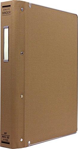 コクヨ ファイル バインダー 布貼 A4 縦 フチ金付 30穴 200枚収容 ハ-123Z