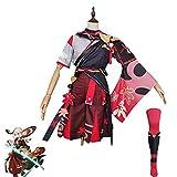 tggh Mangoyoyo Game Genshin Impact Kazuha Cosplay Disfraz Kazuha Game Genshin Impact (Color: disfraz femenino, tamaño: XL)