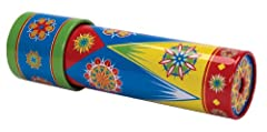 The classic tin Kaleidoscope for kids, just twist and experience a vibrant light show Each turn creates a magical, intricate and iridescent mosaic that will dazzle and delight Made of metal for a timeless tin toy feel that is lacking in plastic and c...