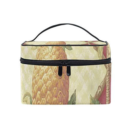 Sac de maquillage pin bambou palmiers sac cosmétique portable grand sac de toilette pour femmes/filles voyage