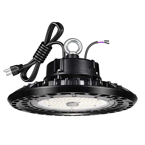UFO LED High Bay Light 200W 30000lm 0-10V Dimmable UL Certified Driver 5000K IP65 Waterproof UL Approved 6' Cable with US Plug Alternative to 800W MH/HPS widely Used for Warehouse Workshop Factory