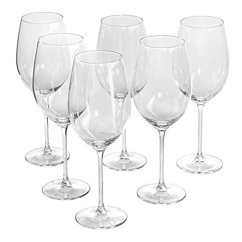 Royal Leerdam Avangarda - Juego de 6 copas de vino tinto Weißeingläser 400ml