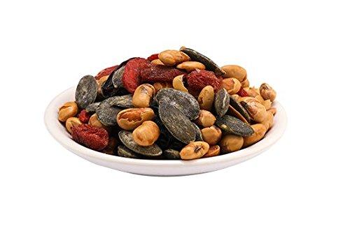 Edamame Mix Mezcla de frutos secos orgánicos Fairtrade 700g BIO, de comercio justo, exquisita mezcla de frutos secos y nueces nobles, Vegan 7x100g