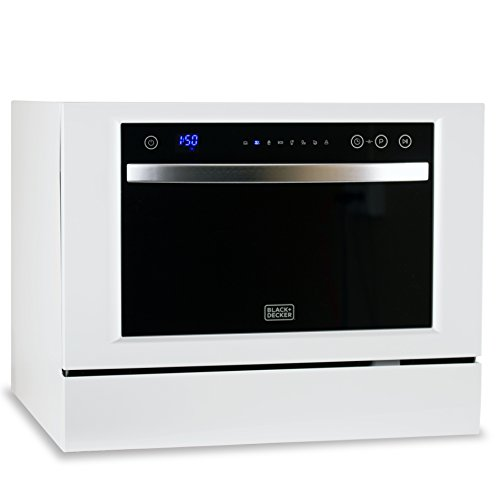 Product Image 3: BLACK+DECKER BCD6W 6 Place Setting Compact Countertop Dishwasher