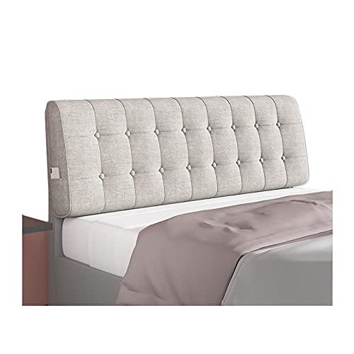 LIANGJUN - Cojín para el respaldo de la cama, cojín de doble lectura, cojín lumbar, decoración de la cama del dormitorio del hotel, tapa lavable extraíble, grosor 6 cm/10 cm, tamaño personalizado