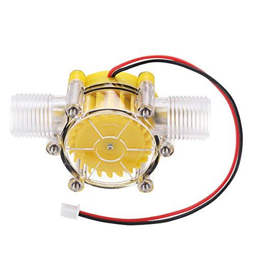 RanDal Amarillo Translúcido 12V/10W Dc Flujo De Agua Bomba Generador Turbina Generador Hidroeléctrico Micro Hydro Generator Grifo De Flujo De Agua Diy Hidráulico - F50-80V
