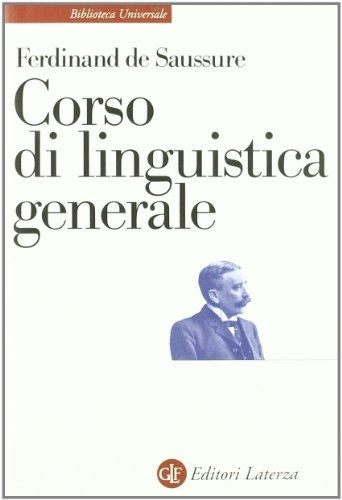 Corso di linguistica generale