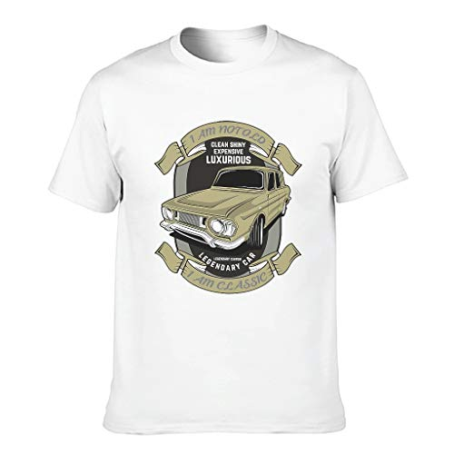 Ginald Camisetas de algodón clásicas para hombre con texto en inglés 'I Am Not Old I Am - Classic Top Wear