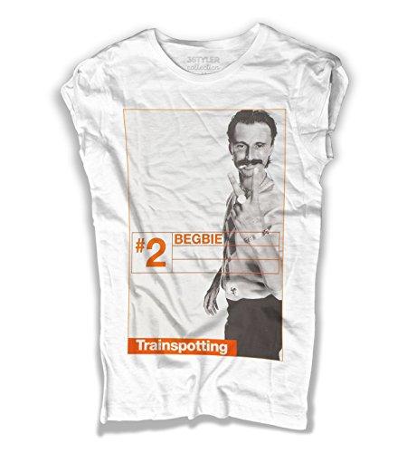 3stylercollection, Trainspotting t-Shirt Donna – Begbie, Colore: Bianco, Taglia: Medium