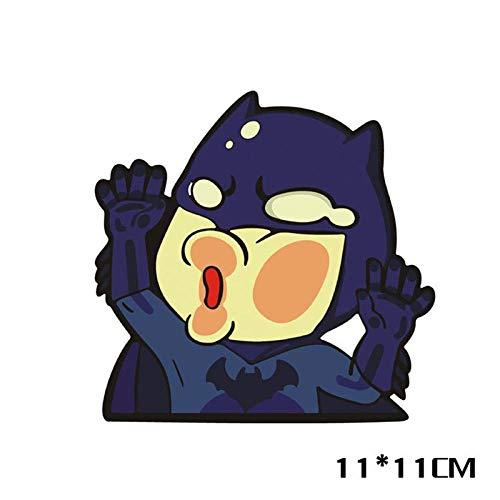 WYLD Auto stickers Autosticker ontwerp Batman raakt glazen auto leuke persoonlijkheid sticker decoratie