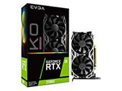 Real Boost Clock: 1680 MHz; Memory detail: 6144 MB GDDR6 Real-Time ray tracing in games for cutting-edge, hyper-realistic graphics Dual fans offer higher performance cooling and much quieter acoustic noise. Built for EVGA precision X1 + all-metal bac...
