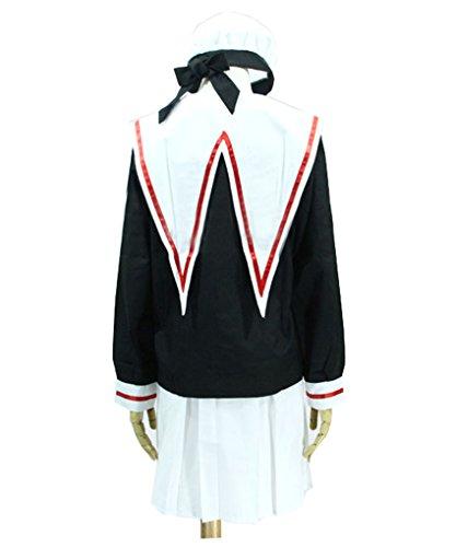 『【Guirui】カードキャプターさくらコスプレ衣装 さくら セーラー服 制服 ロウイン変装 日常着 仮装 cosplay M』の3枚目の画像