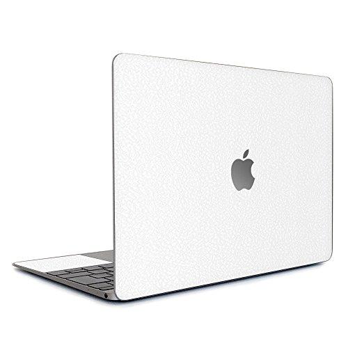 wraplus for MacBook Air 13 インチ M1 2020 2019 2018 対応 全31色 [ホワイトレザー] スキンシール フィルム ケース カバー