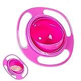 QWEPU Magic Bowl, Gyroskop-Schüssel, Universal Gyro Bowl,360 Grad drehbar, auslaufsicher, Gyro-Schüssel mit Deckel, für Kleinkinder, Babys, Kinder