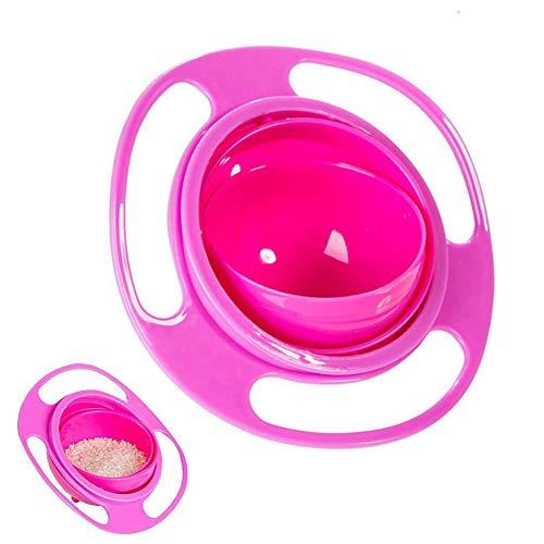 Magic Bowl, Gyroskop-Schüssel, Universal Gyro Bowl,360 Grad drehbar, auslaufsicher, Gyro-Schüssel mit Deckel, für Kleinkinder, Babys, Kinder