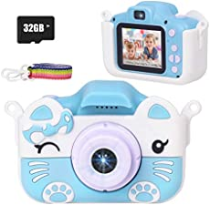 JLtech Kids Camera Digital Video Recorder Camera Toys for 2 3 4 5 6 7 8 9 10 Years Old Girls Boys Gift, Rechargeable Shockproof Mini Child Camcorder(Blue)