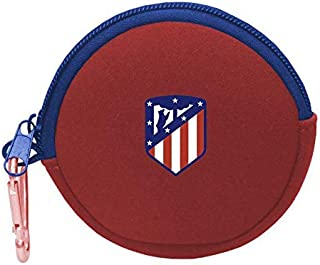 Atletico de Madrid Redondo Neopreno Monedero Tiempo Libre y Sportwear, Adultos Unisex, Multicolor (Multicolor), Talla Única