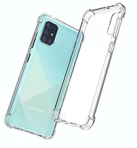 QHOHQ Cover per Samsung Galaxy A71, Ultra Sottile in Silicone Morbido AntiGraffio Protettiva Cover (Trasparente)