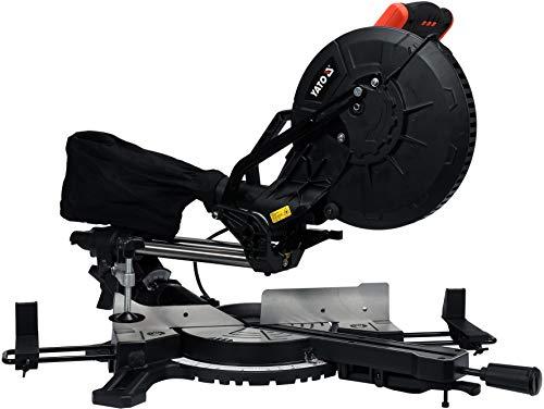 XXL trekkap, verstekzaag met laser voor hout en metaal, met horizontale en verticale zaaghoekverstelling (1800W, 3.800 min-1, zaagblad Ø 255 x 30 mm, 2 versnellingen)