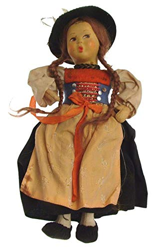 Bambole vintage dell'Europa orientale piccolo souvenir bambole anni '50
