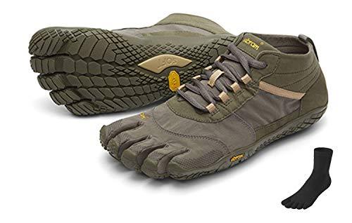 Fivefingers Vibram V-Trek - Calcetines con dedos para hombre (talla 46), color gris