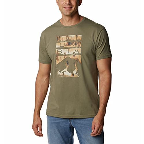 Columbia Rebel Ridge Camiseta Estampada de Manga Corta para Hombre