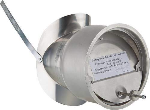 Zugbegrenzer Edelstahl DN 130 mm Abgasrohr Rauchrohr Zugregler V2A Nebenluft