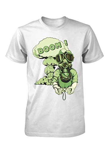 Playstation Boom Xbox Gaming Addiction Gas MASK Games Adult T Shirt S-XXL,White,XXL